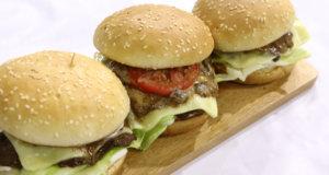 Roasted Beef Burger Rice Recipe | Flame On Hai
