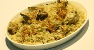 White Chicken Pulao Recipe | Dawat