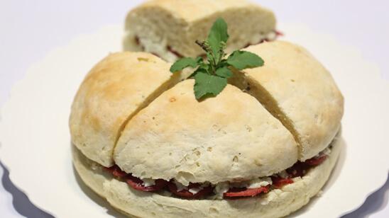 Muffaletta Sandwich Recipe | Dawat