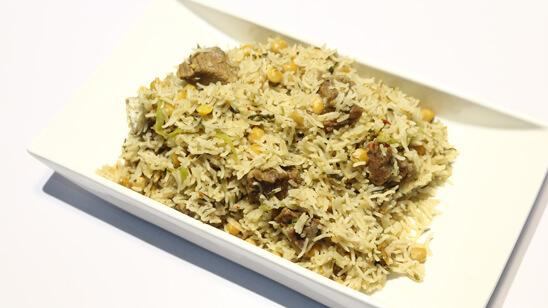Beef Boti Chana Rice Recipe | Flame On Hai