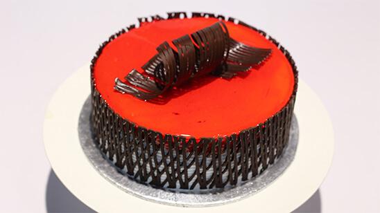Chocolate Lace Art Cake | Quick Recipes
