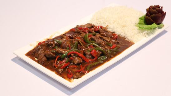 Finger Steak On A Bed Of Rice Recipe | Masala Mornings