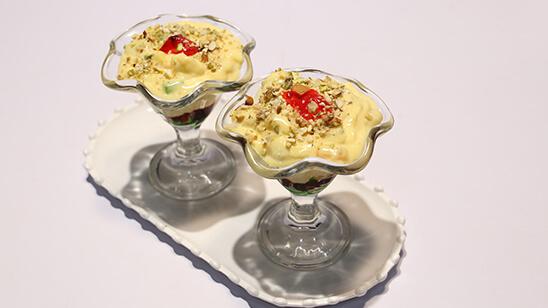 Mix Fruit Custard Recipe | Lazzat