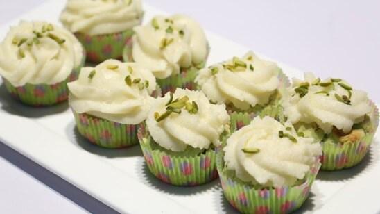 Pistachio Cupcakes Recipe | Food Diaries