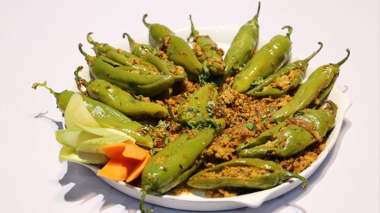 Qeema Bhari Hari Mirch Recipe   Masala Mornings