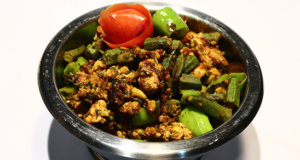 Qeema Bhindi Fry Recipe | Tarka