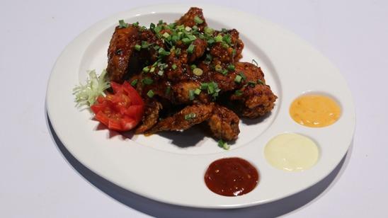 Schezwan Red Chili Wings Recipe | Lazzat