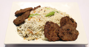 White Biryani with Chapli Kabab Recipe