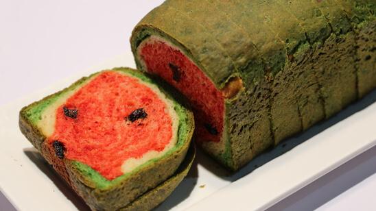 Watermelon Bread Recipe | Food Diaries