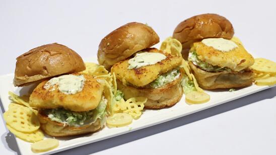 Crispy Fish Burgers Recipe   Dawat