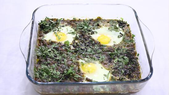 Green Shakshuka Recipe | Flame On Hai