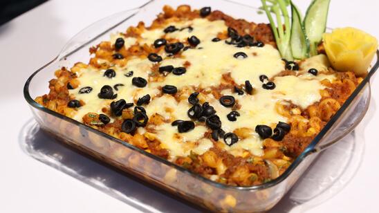 Pizza Pasta Casserole Recipe | Masala Mornings