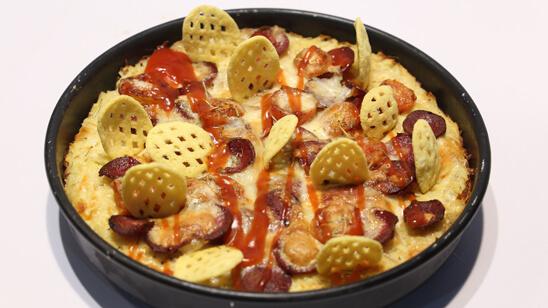 Potato Crust Pizza Recipe | Dawat