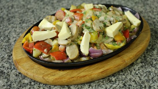 Vegetable Sizzler Recipe | Dawat