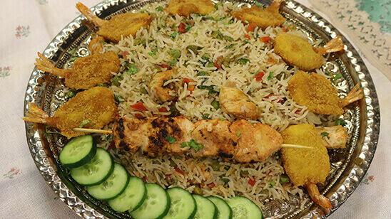 Chicken Tikka Fried Rice Recipe | Lazzat