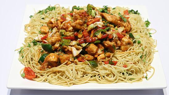 Chicken Fried Spaghetti | Quick Recipes
