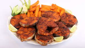 Fish Fry with Spicy Potato Wedges Recipe | Masala Mornings