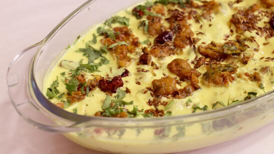 Methi Pakora Kadhi Recipe | Food Diaries