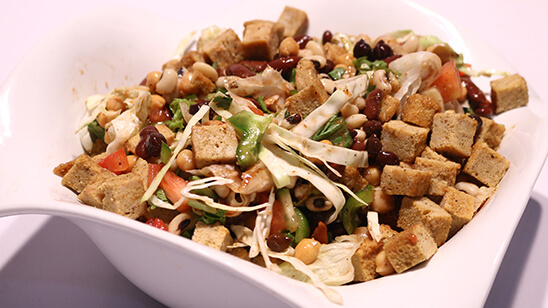 Mix Beans And Chicken Chunks Salad Recipe | Lively Weekend