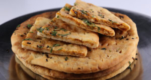 No Yeast Chili Cheese Naan Recipe | Lazzat