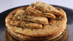 No Yeast Chili Cheese Naan Recipe | Lazzat