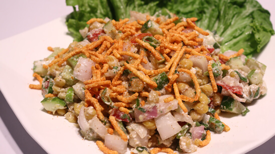 Chanay ki Salad Recipe | Flame On Hai