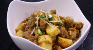 Aalu Gosht Ki Karahi Recipe | Flame On Hai