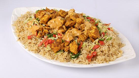 Chicken Barbeque Rice Recipe | Tarka