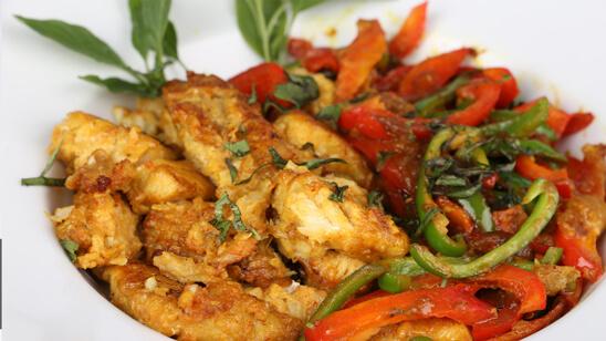 Capsicum Butter Fish Recipe | Tarka
