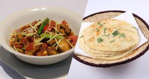 Chicken Tikka Karahi and Naan Bread