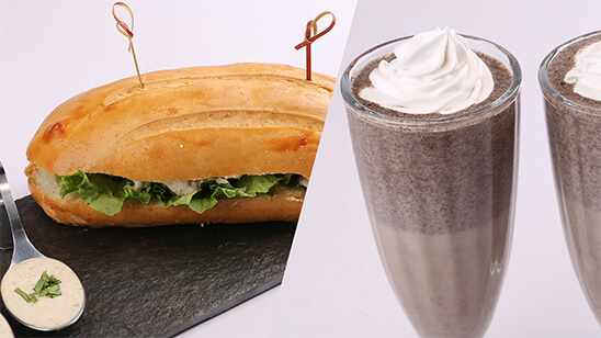 Coleslaw Sandwich and Cookie Shake | Quick Recipes