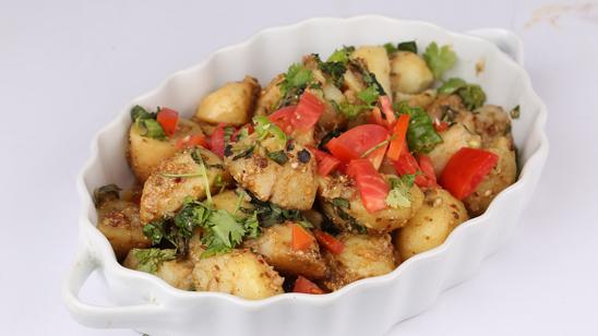 Dum Aalu Recipe   Tarka