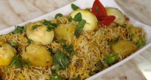 Hyderabadi Anda Pulao Recipe | Tarka