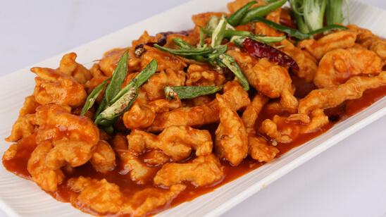 Schezwan Ginger Chicken Recipe | Lazzat