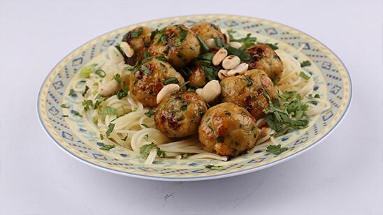 Thai Meatballs with Noodles | Quick Recipes