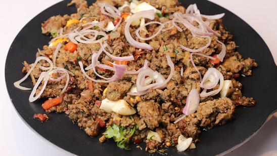 Tawa Qeema Chicken Recipe | Tarka