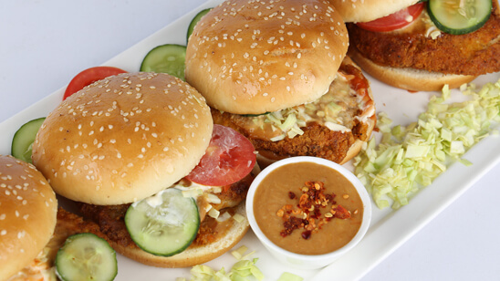 Barbecue Fish Burgers Recipe | Tarka