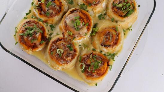 Barbecue Chicken Swirls Recipe | Lazzat