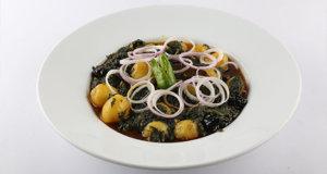Dhaba Aloo Palak Sabzi Recipe | Lazzat