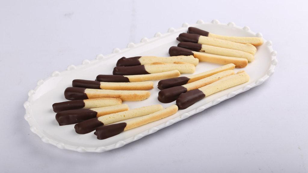 Half Chocolate Biscuit Sticks | Quick Recipes
