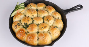 Herb Garlic Bread Roll Skillet Recipe | Masala Mornings