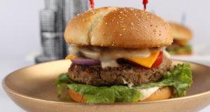 Mushroom And Cheese Burger Recipe | Lazzat