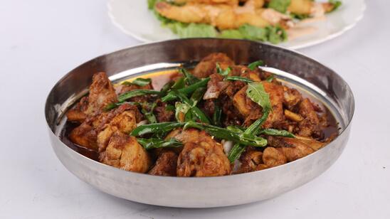 Fried Murgh Salan Recipe   Lazzat