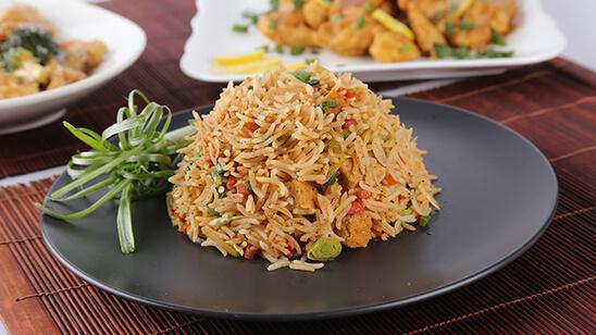 Schezwan Egg Fried Rice Recipe | Lazzat