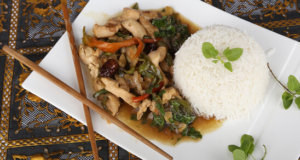 Spicy Thai Basil Chicken Recipe | Dawat