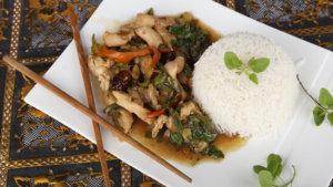 Spicy Thai Basil Chicken Recipe | Dawat