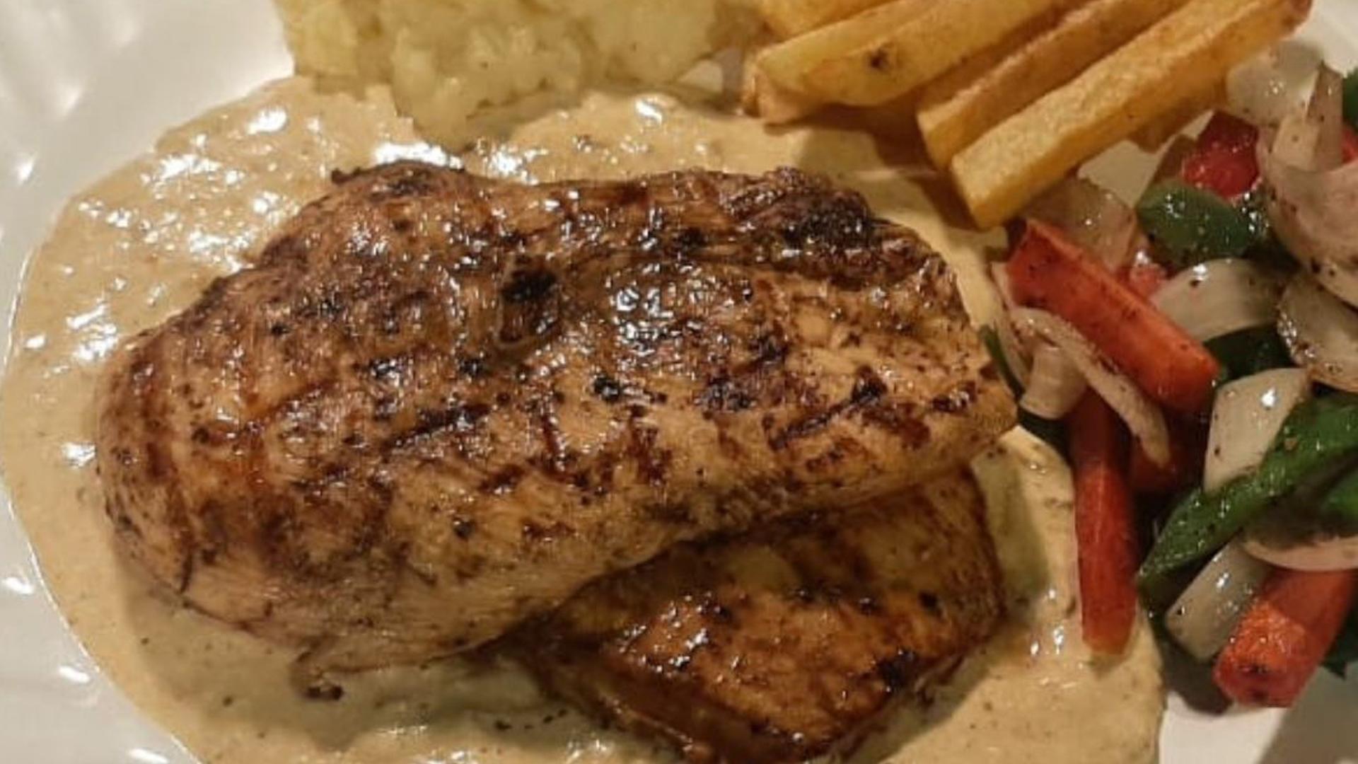 Chicken Steak With Mustard Sauce Recipe   Flame On Hai