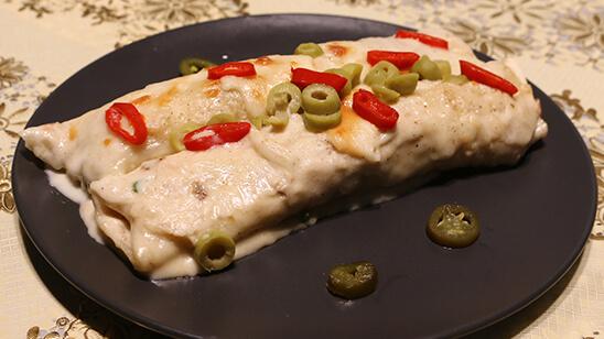 Creamy Chicken Enchiladas Recipe | Dawat