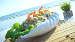 Creamy Sea Food Pasta Salad Recipe | Lazzat