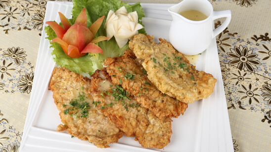 Fried Chicken Steak with Lemon Butter Sauce Recipe | Masala Mornings